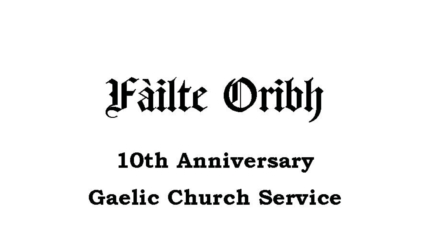 Gaelic 10th Year Church Service poster